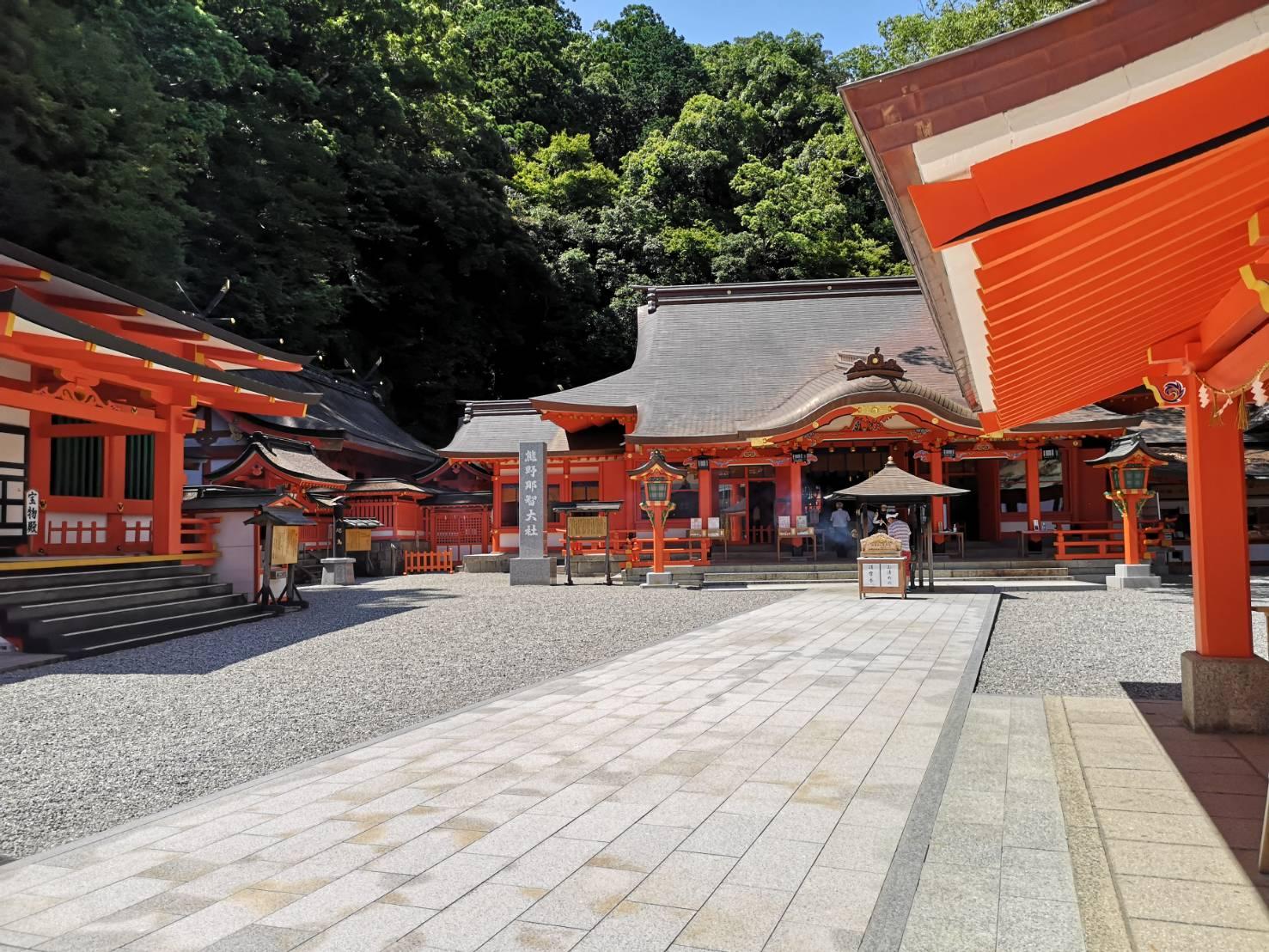 熊野那智大社の境内の様子